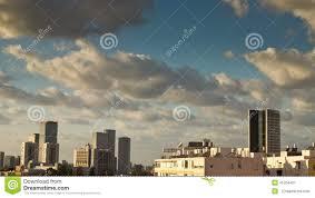 Tel Aviv Skyline Time Lapse Stock Video