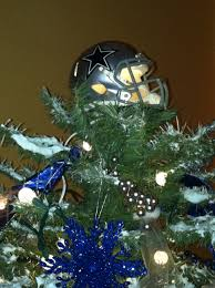 Dallas Cowboy Christmas Tree Toppertook A Mini Helmet And Added Light Frosted Mask