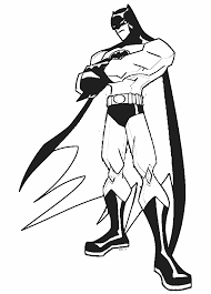 Batman Super Hero Cartoon Coloring Pages
