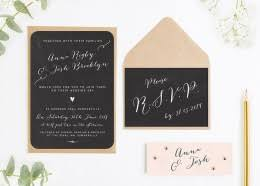 Calligraphy Collection Chalkboard Blush Wedding Invitation Bundle