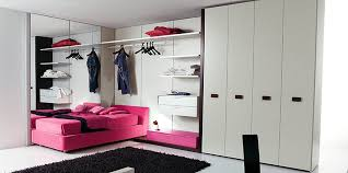 purple teen bedroom wall themes combined by white wooden bed with