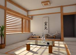 Japanese Living Room With Modern Decoration