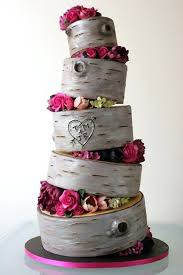 Wood Cake Birch Rustic Wedding Round Boards