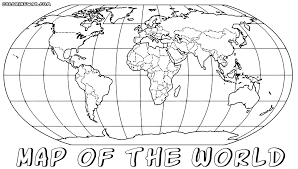 Map Of The World Coloring Book
