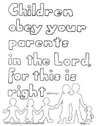 Free Childrens Bible Story Coloring Pages Sheets Creation Stories Kids Children Obey Your Parents Kid Printable