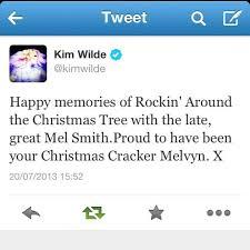 Kim Wilde Rockin Around The Christmas Tree by Kim Wilde Pays Tribute To Comic Mel Smith Welwyn Garden City And