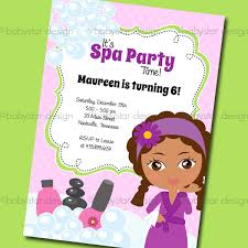 Spa Themed Clipart Girls Day Party 7Ririw