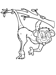 Monkey Make Funny Face Coloring Page