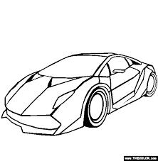 Lamborghini Sesto Elemento Online Coloring Page