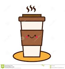 Download Coffee Cup Cute Kawaii Smiling And Friendly Character Hand Drawn Icon Stock