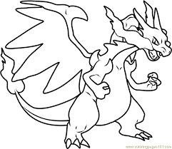 Mega Charizard X Pokemon Coloring Page