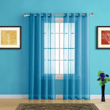 Kohls Sheer Curtain Panels by Teal Blue Sheer Curtains Classic Jacquard Floral And Stripe Ice