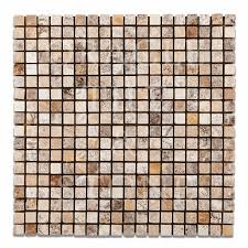 Oracle Tile And Stone Amazon by Andean Cream Travertine 5 8 X 5 8 Mosaic Tile Oracle Tile U0026 Stone