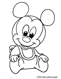 Baby Mickey Mouse Coloring Pages Photo
