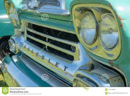 100 Chevy Truck Headlights Front Grill And Lights On A Vintage Editorial Stock