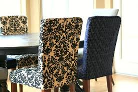 Dining Room Chair Covers Complex Black White Floral Cover Design
