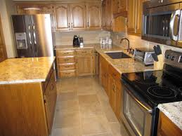 Kitchen Backsplash Pictures With Oak Cabinets by Simple Update To Kitchen With S S Appliances Refinished Existing