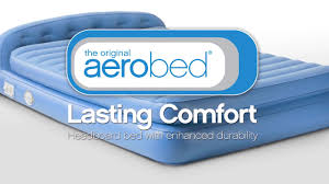 Aerobed Raised Queen With Headboard by Aerobed Airbed Premium Inflatable Air Beds Mattresses One Touch