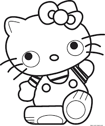 Girls Cat Cartoon Hello Kitty Coloring Pages Online Free Print