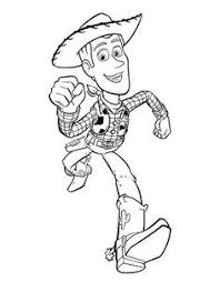 Sheriff Woody Run Coloring Pages For Kids Printable Toy Story