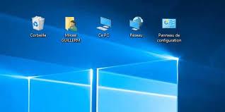 windows 7 bureau windows 10 afficher ce pc panneau de configuration sur