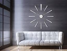 l horloge grand blanc élégance en verre acrylique