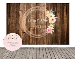 Digital Wedding Backdrop Mint Bridal Shower BackdropPeach Rustic