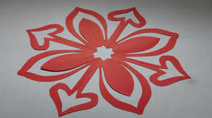 How To Make Simple Easy Paper Cutting Flower Designs Paper