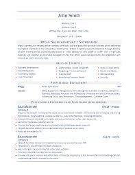 Cv Examples Sales Assistant 0