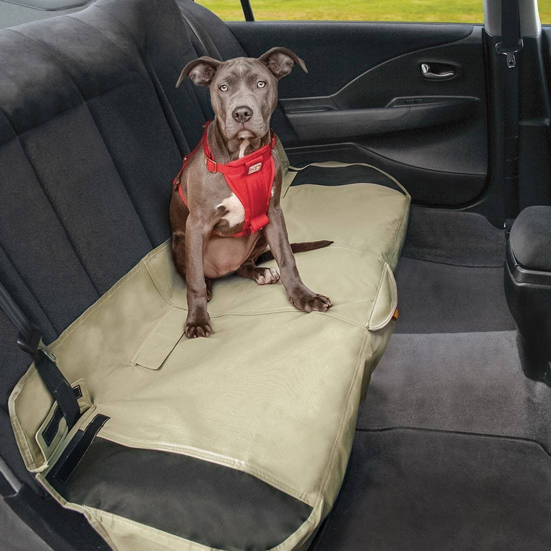 Kurgo Waterproof Shorty Car Bench Seat Cover - Khaki