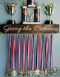 Medal Shelf Premier Award Display Rack And Trophy Images With Breathtaking Diy Ideas Sports