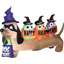 4 airblown inflatables halloweiner dog halloween decoration