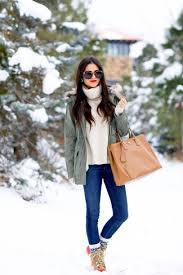 Master The Effortlessly Chic Look In A Grey Parka And Blue Slim Jeans Choose