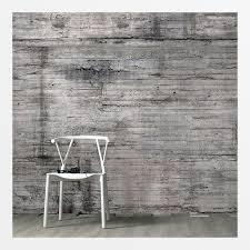 wohnzimmer tapete betonoptik in grau kaufen stylique