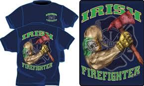 Irish Firefighter Tattoo T Shirt
