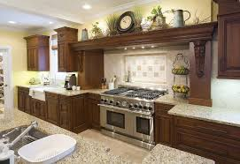 Decorating Above Kitchen Cabinets With Baskets Rustic Stainless Steel Appliances Undermount Sink Somona Tile Backsplash