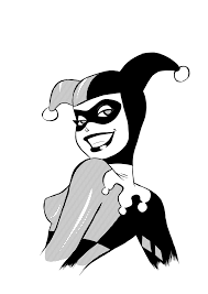 Harley Quinn Pumpkin Template by Harley Quinn Clipart Black And White Pencil And In Color Harley