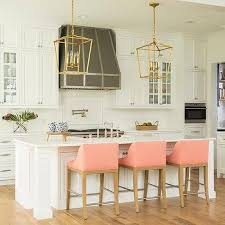 Surprising Pink Kitchen Stools Upholstered Counter Design Ideas White Island With