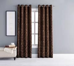 Walmart Canada Bathroom Curtains by Hometrends Leaf Damask Single Window Curtain Walmart Canada