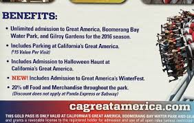 Californias Great America Halloween Haunt 2017 by Great America 2016 Gold Season Pass Costco Weekender