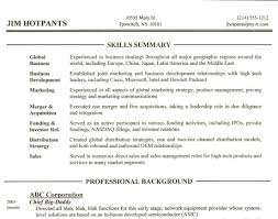 How To Write A Professional Summary For A Resume by Resume Stunning Ideas Skills Section On Resume 3 How To Write A