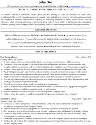 Mechanical Engineer Resume Safety Officer