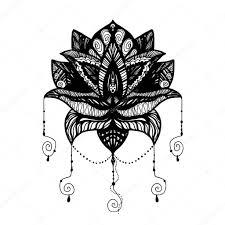 Fleur Lotus Tattoo Image Vectorielle Barsrsind © 130505820