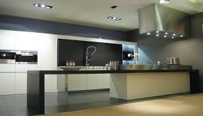 cuisine murale hotte de cuisine îlot murale avec éclairage intégré design