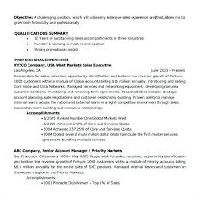 Sample Resume Sales Executive Bank Plus Account Manager Examples Senior