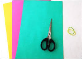 Picture Of Material Require To Make The Easy Origami Paper Lotus