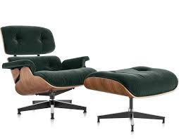 Eames Lounge Chair & Ottoman In Mohair Supreme hivemodern