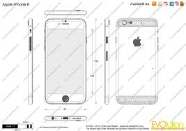The Blueprints Vector Drawing Apple iPhone 6