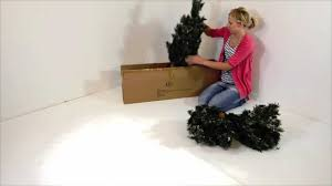 Pre Lit Christmas Tree Rotating Stand by How To Assemble Your 5ft Pre Lit Deluxe Pine Christmas Tree Youtube