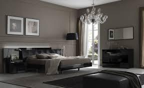 Elegant Vintage Bedroom Ideas Modern Smooth Black Wall Luxury Chandelier